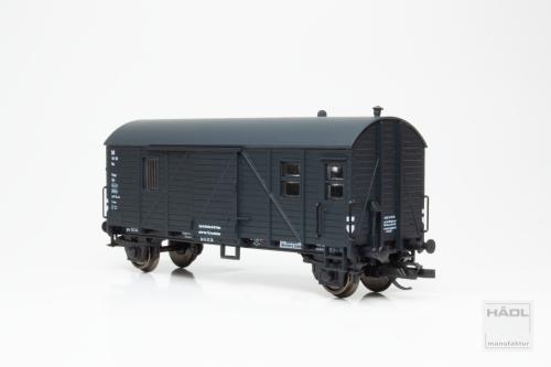 Güterzuggepäckwagen Pwgs 44 DR, Epoche II, schwarzgrau