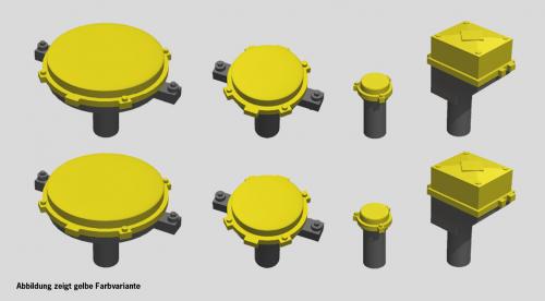 Kreisverteiler & Gleisanschlusskästen orange, 8 Stück, TT